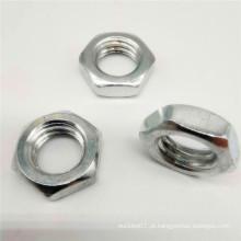 Porca de flange hexagonal de bloqueio de metal A2