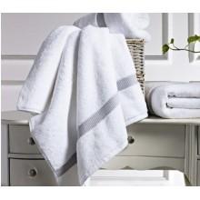 Frontière de Canasin Dobby serviettes luxe blanc