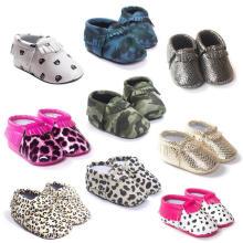 Recién nacidos suaves suela antideslizante niño holgazán infantil zapatos para niñas