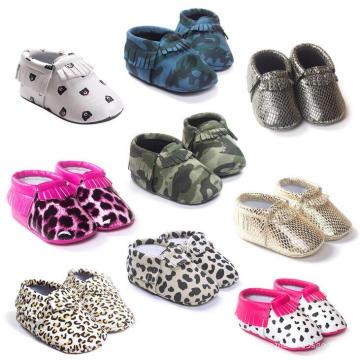 Nouveau-nés Semelle souple anti-dérapant enfant en bas âge mocassin chaussures filles