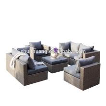 All weather waterproof wicker furniture rattan sofa