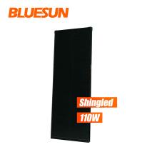 Flexible solar shingles bluesun solar shingled and halfcell all black solar panel 110w 120w customized