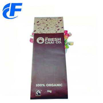 Échantillon gratuit Stand Up Kraft Paper Coffee Bags