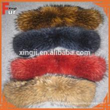 Collar de piel de mapache chino al por mayor para la chaqueta