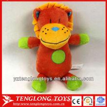 Brillante y colorido león juguete de peluche juguete león bebé