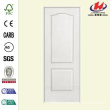 32 in. x 80 in. Textured 2-Panel Arch Top Hollow Core Primed Composite Single Prehung Interior Door