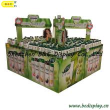 Дисплея картона шампуня в супермаркете (B и C-C019)