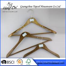 Antideslizante varios colores pantalones suspensión de madera perchas de madera antideslizante