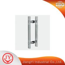 Poignée de porte à tirette en acier inoxydable chromé brillant
