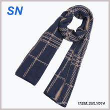 Invierno cálido color oscuro bufanda larga