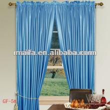 100% Polyester High Faux Silk Vorhang mit Plain Rod Tasche für Haus / Hotel