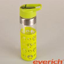 Высококачественная прочная двойная стеновая стеклянная бутылка с водой