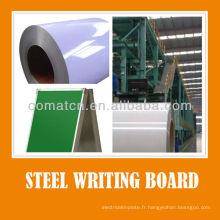 Écrit Home School board magnétique peinte par acier PPGI blanc vert couleur noire