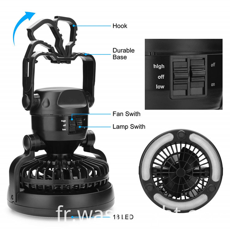 Fan Camping Light