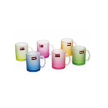 Copa de vidrio helado Taza de vidrio de color con Decalque Kb-Jh06197
