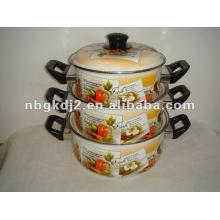 3pcs enamel cookware set