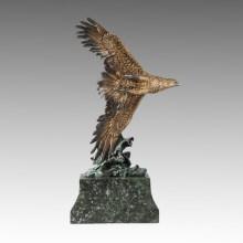 Tier Statue Flying Eagle Bronze Skulptur Tpal-262