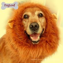 Atacado cão pet acessórios leão juba peruca cão pet traje