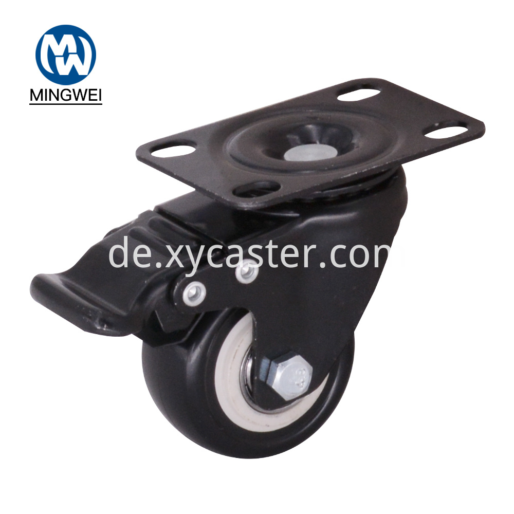 2 Inch Pvc Caster With Brake