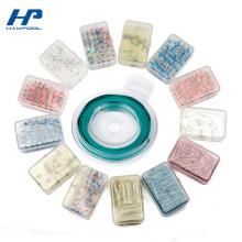 Petite boîte de rangement en plastique qui respecte l'environnement d'emballage avec le couvercle