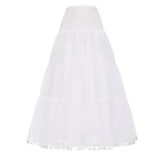 Grace Karin Women's White Long Crinoline Underskirt Retro Vintage Dress Petticoat CL010421-2