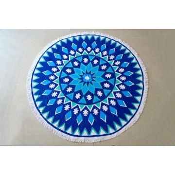 Microfiber Soft Mandala Beach Towel Round With Jassels