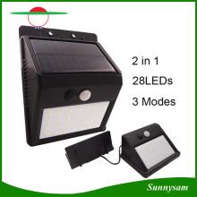 Split Type Intérieur Lampe solaire Utilisation extérieure Capteur de mouvement Lampe murale Éclairage de sécurité LED avec cordons d'extension extra long
