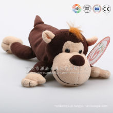 Caso de caneta de tecido de pelúcia de forma animal, caso de caneta de macaco de pelúcia, caso de lápis de vaca unstuffed