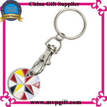 Customized Key Chain with Trolley Coin
