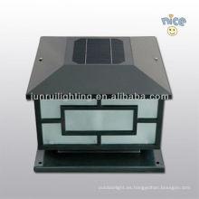 luces de jardín solar guangzhou, luz de pared al aire libre led solar luz de Pilar de la energía solar