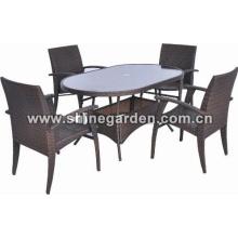 Outdoor/Garten Möbel 5 Stück Patio Wicker Dining Set