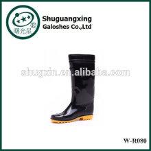 Botas de lluvia altos para zapatos de la lluvia hombre lluvia BootsPVC transparente fondo plano para hombre moda W-R080