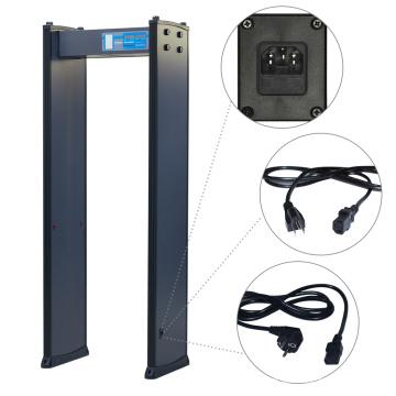 Relógio de contador de alarme Alta ajustável de nível 200 Detector de metal digital de segurança