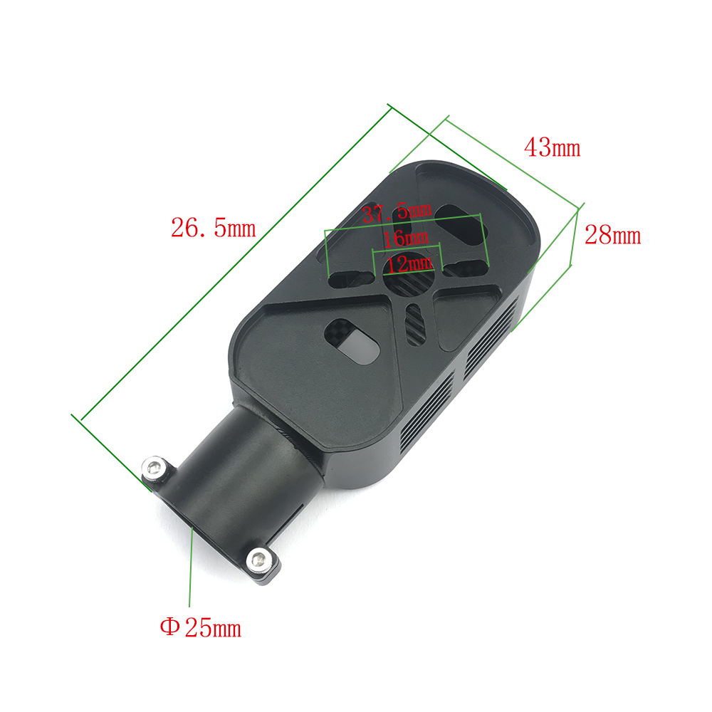 JMRRC DIY 25mm Motor Base Motor Mount Holder Seat for FPV Drone Multicopter octopopter Multicopter for 25mm carbon fiber tube is used for 5L agricultural spraying uav and for industrial applications UAV