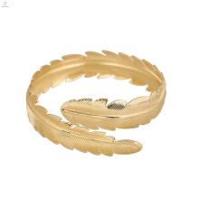 Bracelet de bras supérieur bijoux déclaration feuille plume