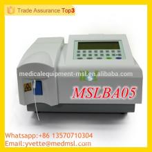 MSLBA05 Meilleur prix Analyseur de biochimie entièrement automatique avec CE ISO