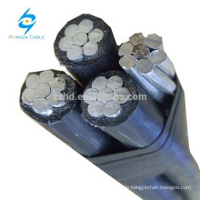 triplex abc cable three cores aerial bundled cable wires
