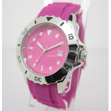 Relógio colorido do silicone, relógio do presente (JA-15014)