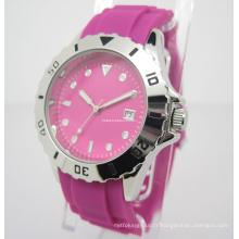 Montre en silicone coloré, montre-cadeau (JA-15014)