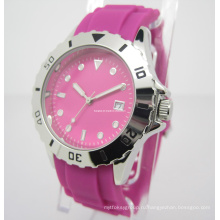 Красочные силиконовые часы, подарок часы (Джа-15014)