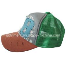 Imprimir sombrero de camionero de deporte de snapback de malla de esponja de apliques (TMT0082-1)