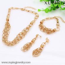 C203125-63394-Xuping Fashion alliage de cuivre femme bijoux ensemble avec plaqué or 18 carats