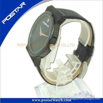 Normally Round-Shaped Quartz Wrist Watch with IP Black Plating Psd-2781