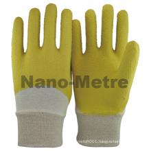 NMSAFETY interlock liner grip garden heavy duty latex safety work gloves