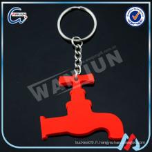 Porte-clés en silicone Red Faucet 3d