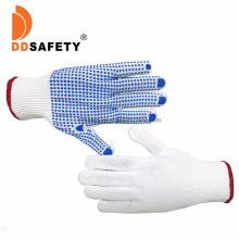 13 Gauge Black Nylon /Polyester Knit Knitted Garden Work Gloves with PVC Dots, Gripper DOT Gloves