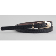 New ladies fashion imitation snake skin PU belt