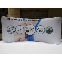 Affichages de tissu extensible courbé de salon commercial de 10FT