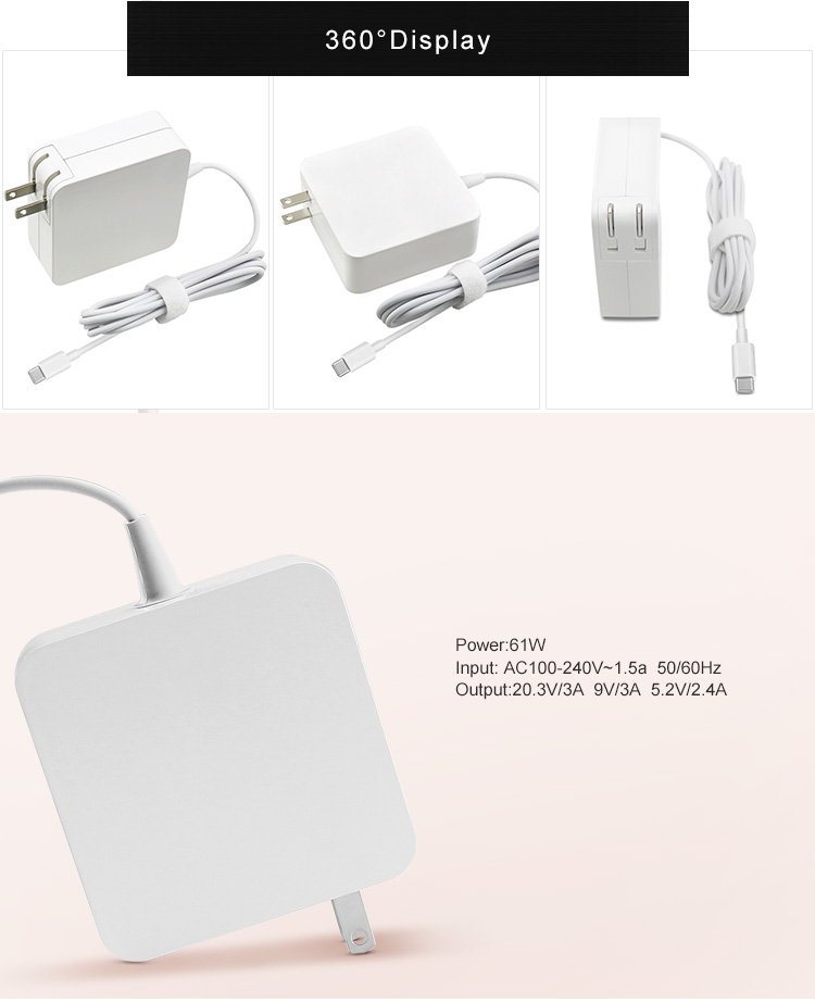 61w type-c macbook laptop charger supply