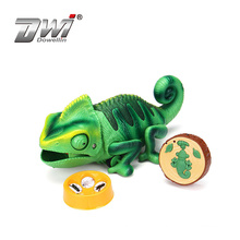 HOT Infrared Miraculous Insects Set Simulation Inductive RC Toy Plastic  chameleon with eating function